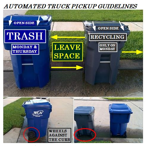 how to display trashcans
